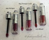 Dior Addict Fluid Sticks L-R: 995 Intrigue, 893 Trompe L'Oeil, and 975 Minuit.